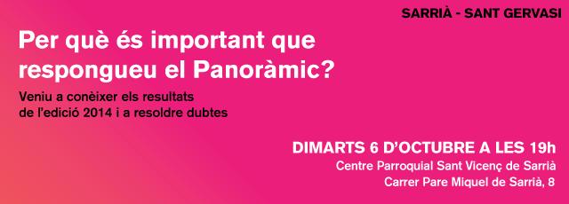 Coneixeu el Panoràmic? Veniu a la presentació dels resultats 2014 de Sarrià-Sant Gervasi