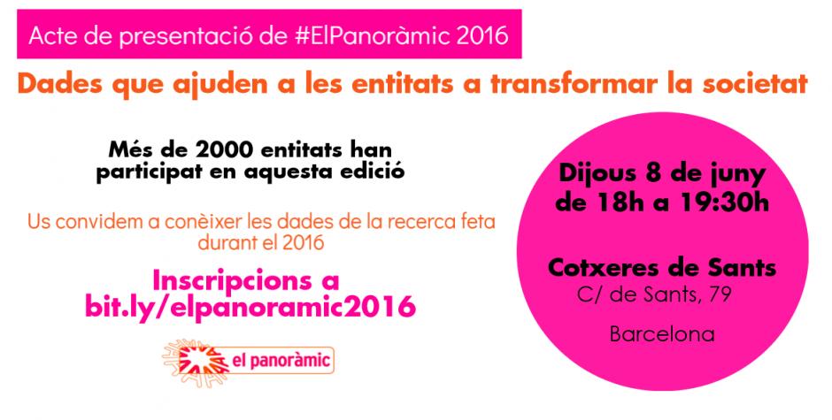 Presentació de resultats del Panoràmic 2016 i publicació d'informes
