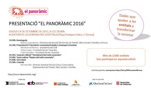 """Presentació """"El Panoràmic 2016″ a Girona"""
