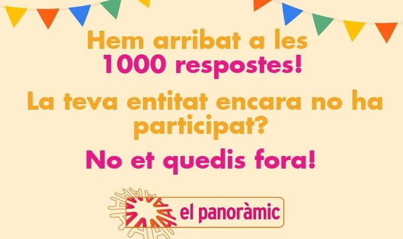 Més de 1000 entitats ja han respost El Panoràmic!